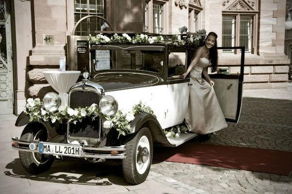 Beispiel: Hochzeitsauto, Foto: Oldie².