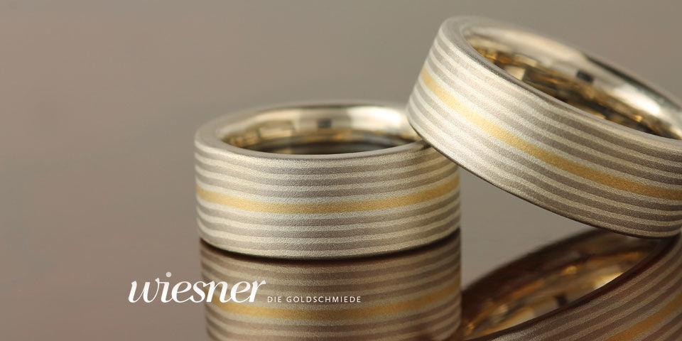 Beispiel: Wunderschöne Eheringe, Foto: Wiesner - Die Goldschmiede.