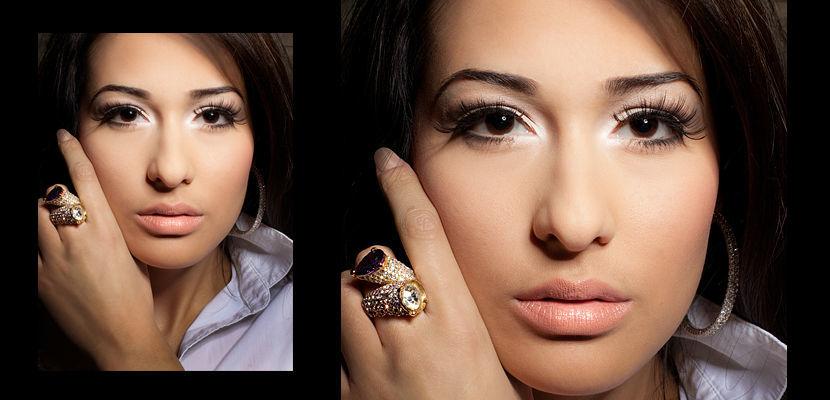 Beispiel: Wunderschön geschminkt, Foto: faceArts.