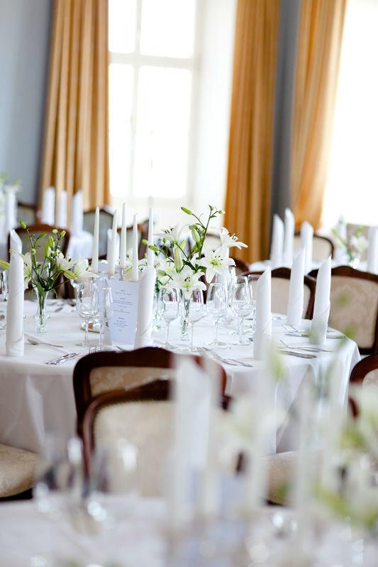 Beispiel: Tischdekoration, Foto: Schloss Weiterdingen.