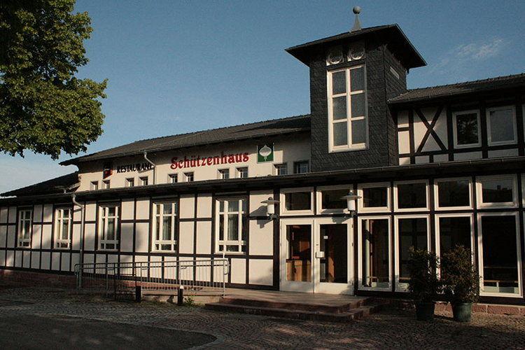 Beispiel: Aussenansicht, Foto: Schützenhaus Bürgel.