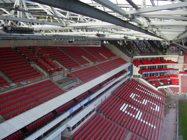 Stoelrijen Phillips stadion