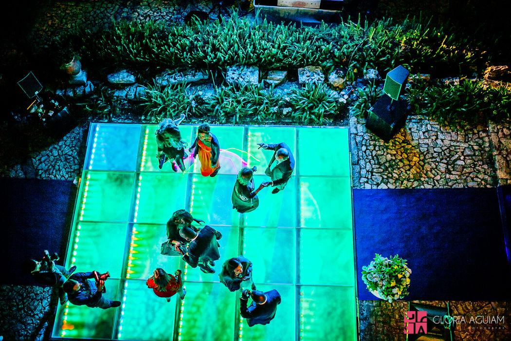 pista de dança com LEDS