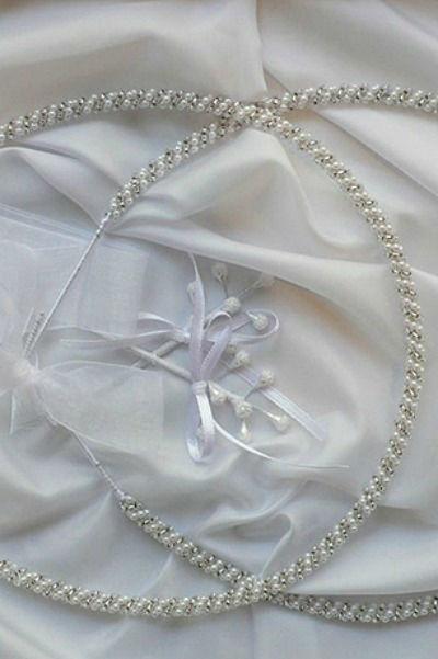 Beispiel: Hochzeitsaccessoires griechisch-orthodox, Foto: Dimitra Brautmoden.
