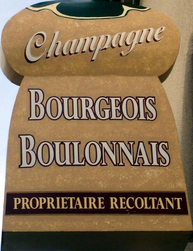 L'enseigne Champagne Bourgeois-Boulonnais