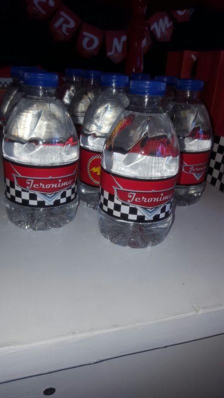 cars agua personalizada