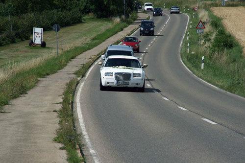 Beispiel: Die Fahrt in Ihrem Glückstaxi, Foto: Limousinen Service Germany.