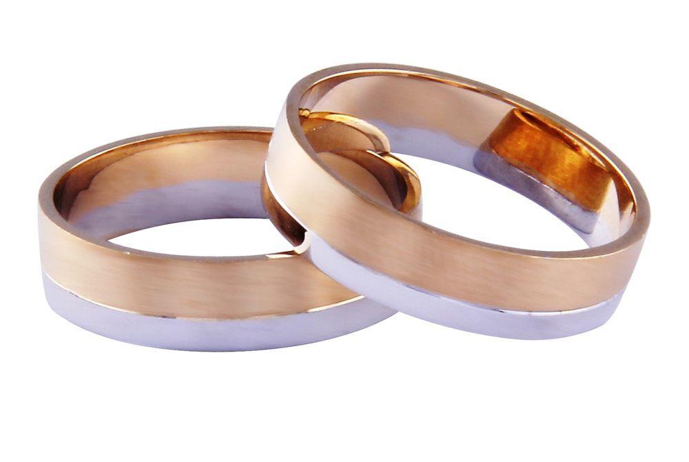 Alianças Casamento Bicolores ALBIC77