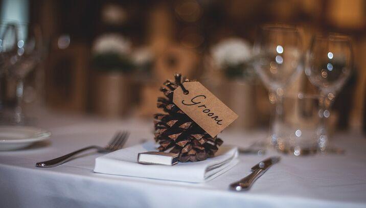 décoration de table hivernale