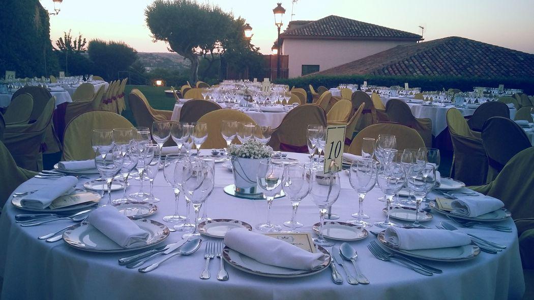 Banquete en exterior