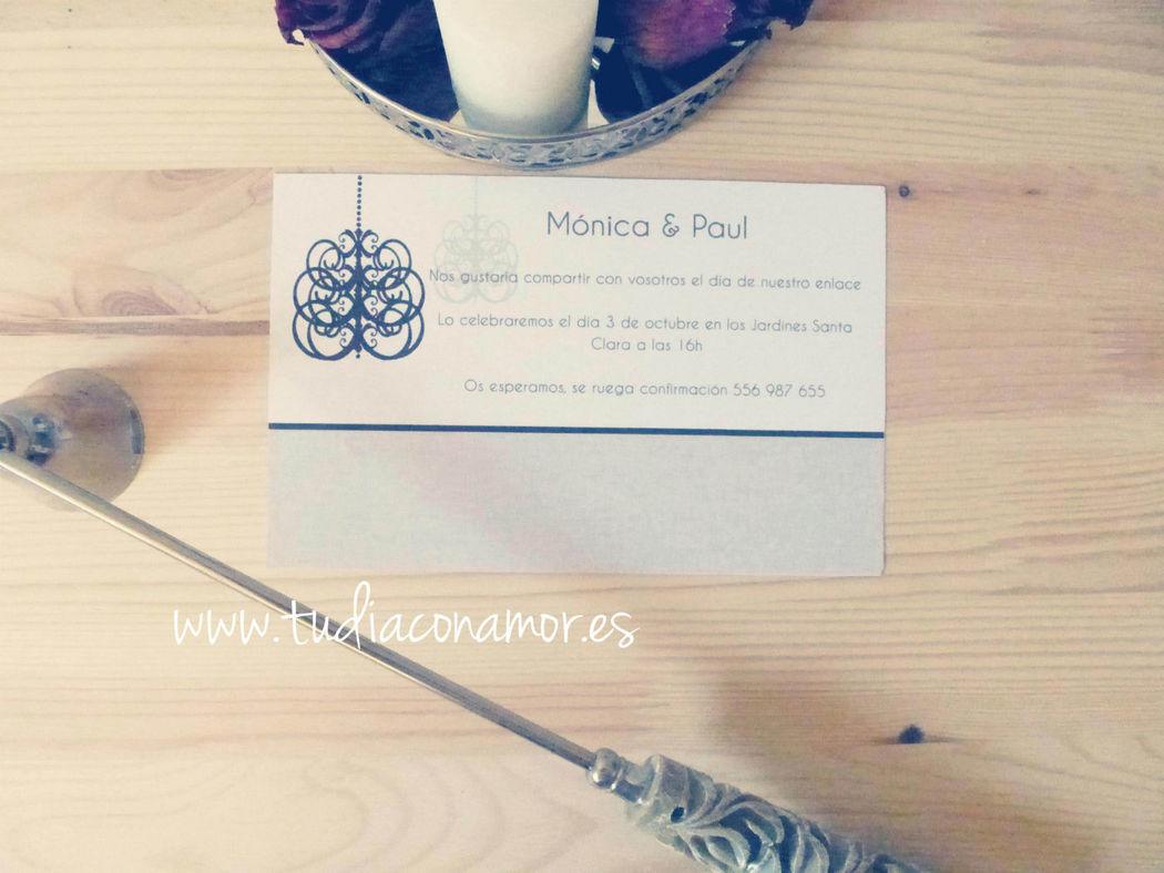 Invitación moderna y elegante