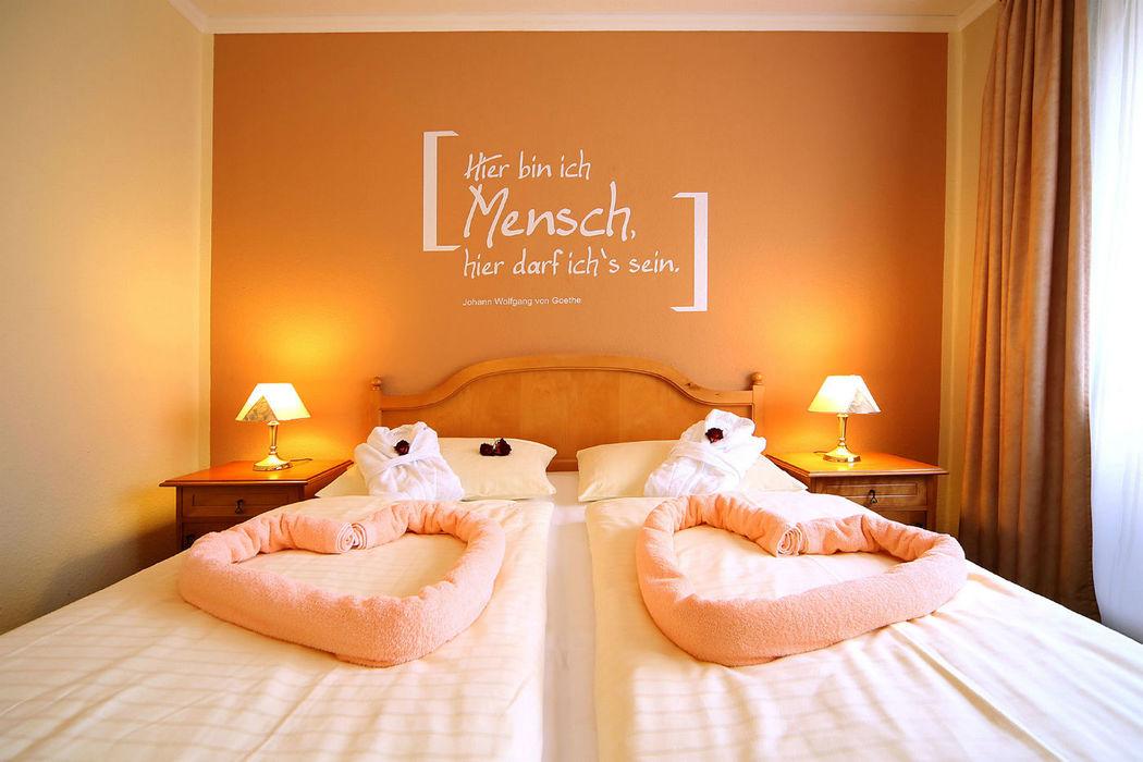 Beispiel: Standard-Zimmer, Foto: TRIHOTEL am Schweizer Wald.