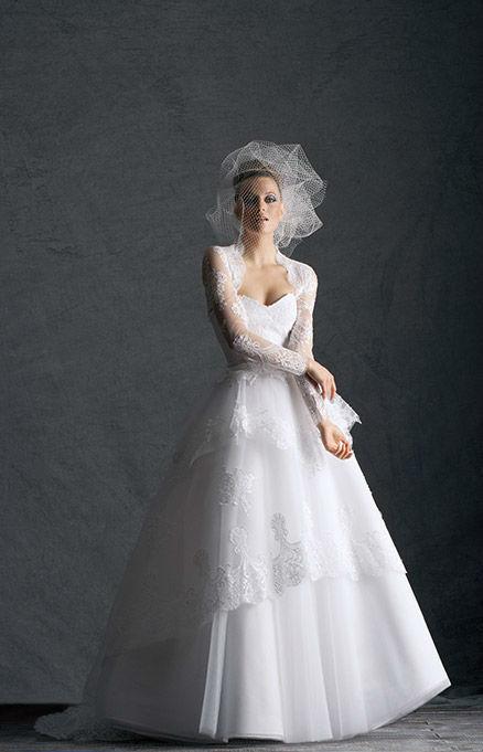Beispiel: Brautmode und Accessoires, Foto: Hochzeitssalon Jereb.