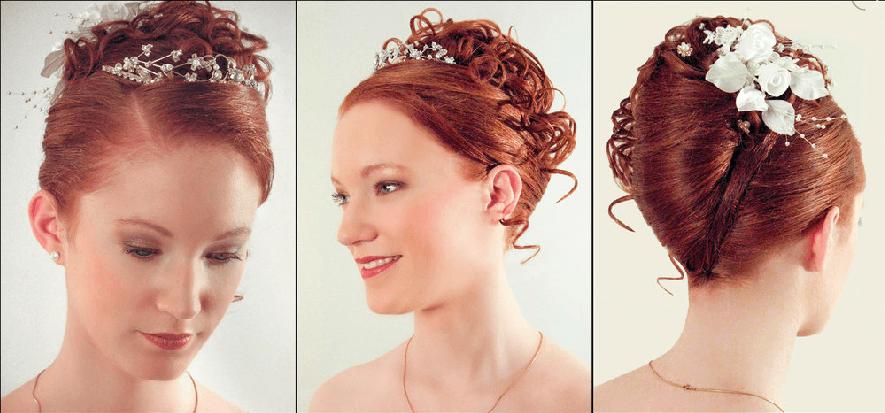 Beispiel: Wunderschöne Hochzeitsfrisuren, Foto: Beauty Art Team.