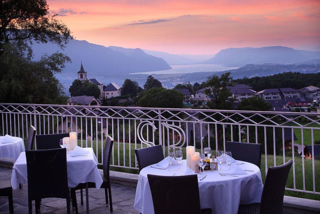 Vue de la terrasse Photo Gérard Cottet
