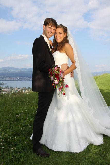 Beispiel: Professionelle Hochzeitsfloristik, Foto: Hochzeitsblumen.ch.