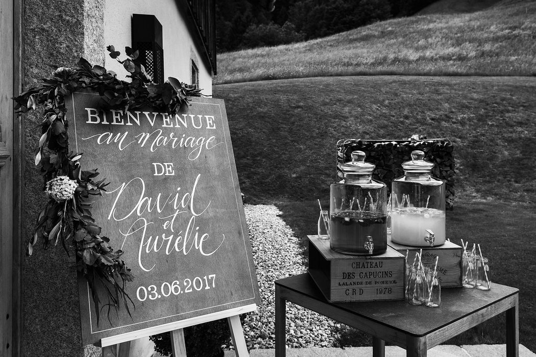 Organisation mariage Megève - Aurélie & David - Welcome Drink