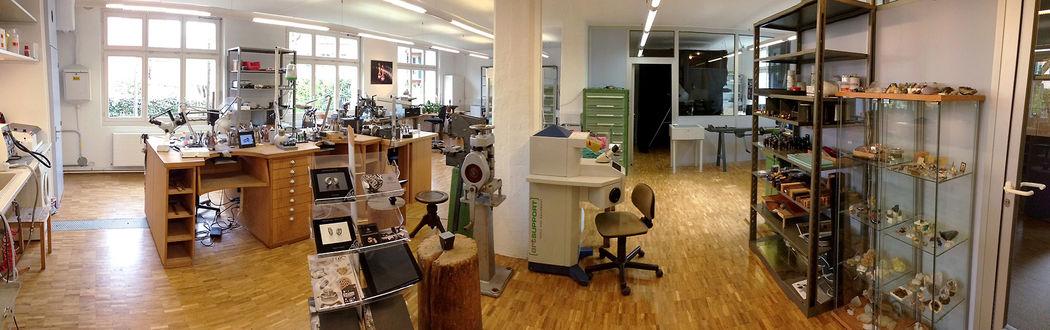 Unser grosszügiges Goldschmiede-Atelier in Zürich Oerlikon