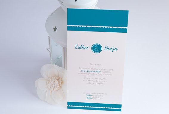 Invitación detalle azul