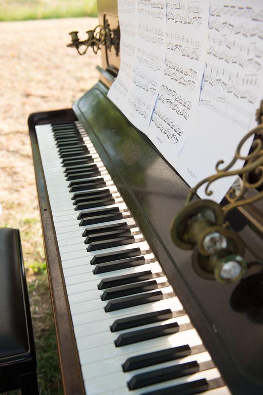 Live muziek bij de ceremonie