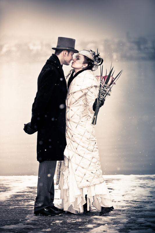 Paarfotos im Winter