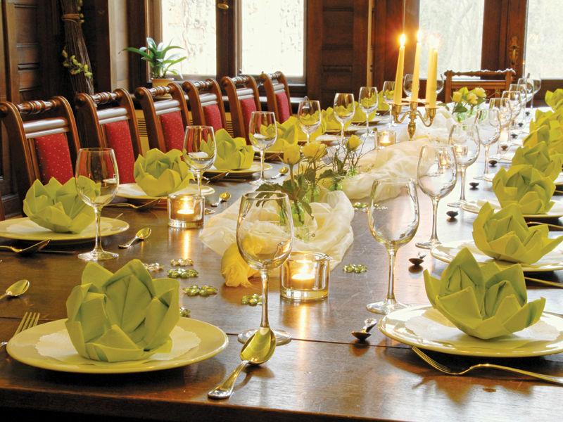Beispiel: Tischdekoration, Foto: Schloss Garvensburg.