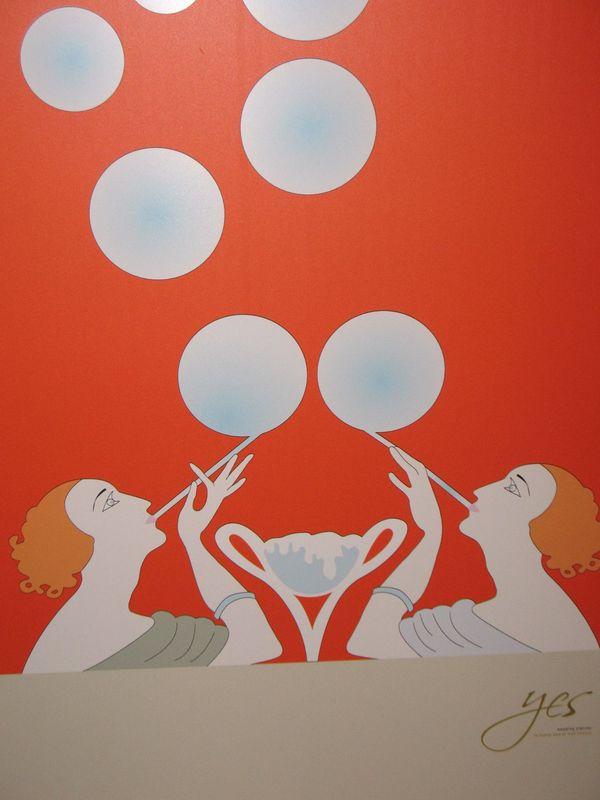 Tableau de Mariage. Ogni bolla un tavolo. Ispirato ad Ertè, anni '20.