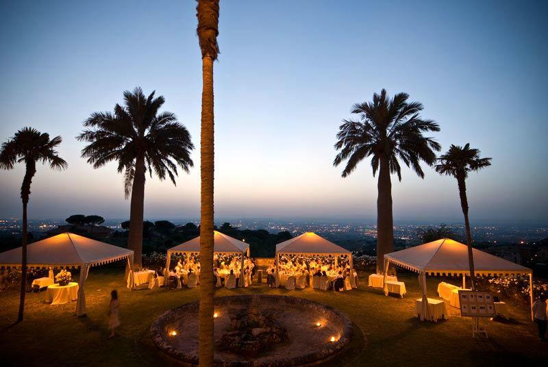 Park Hotel Villa Grazioli: Giardino pensile al tramonto