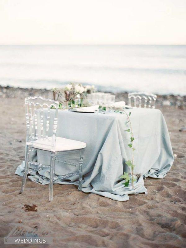 Cena intima en la playa