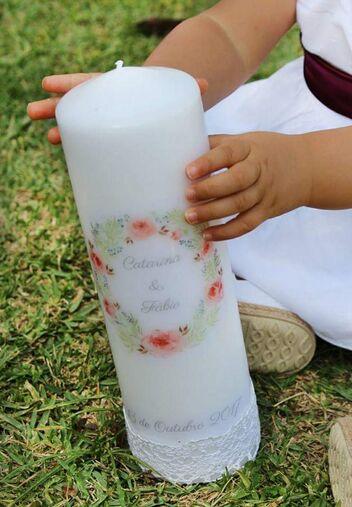 Sopro de Ternura -velas Personalizadas