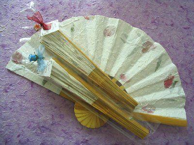 La cigüeña de papel, abanicos