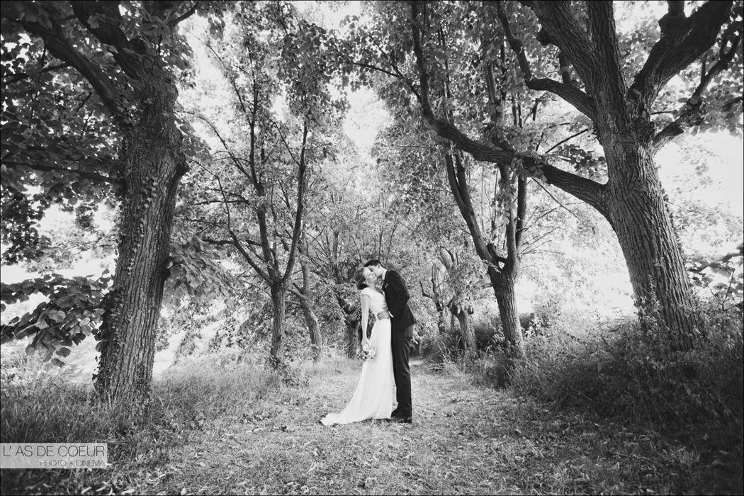 Séance photo des mariés - Allée cavalière