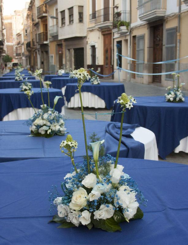 Centros de mesa para el banquete