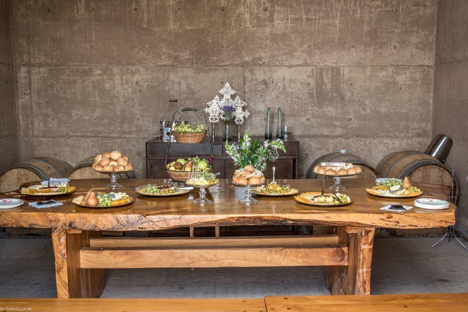 Mesa de quesos para la recepción