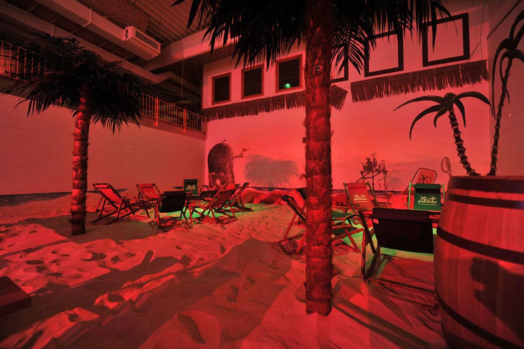 Beispiel: Strandfeeling, Foto: Gestrandet Indoor Beachclub Augsburg.