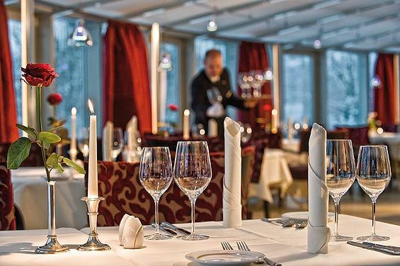Beispiel: Feinschmecker-Restaurant Belvedere, Foto: Travel Charme Strandidyll Heringsdorf.