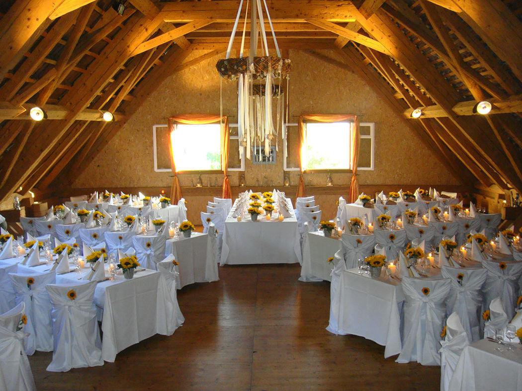 Beispiel: Eventdekoration, Foto: Hof-Landschi.