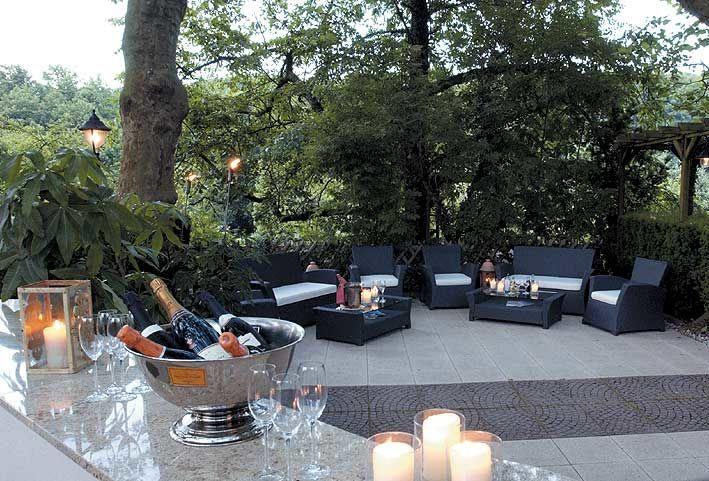 Beispiel: Garten mit Loungebereich, Foto: Landhaus Diedert.
