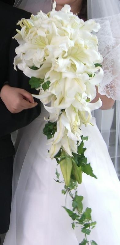 Bouquet lilium. Japanese wedding