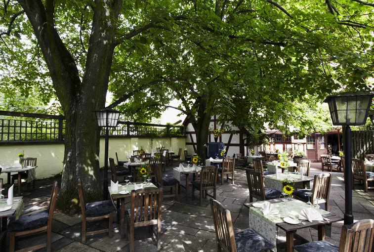 Beispiel: Restaurantgarten, Foto: Romantik Hotel Gasthaus Rottner.