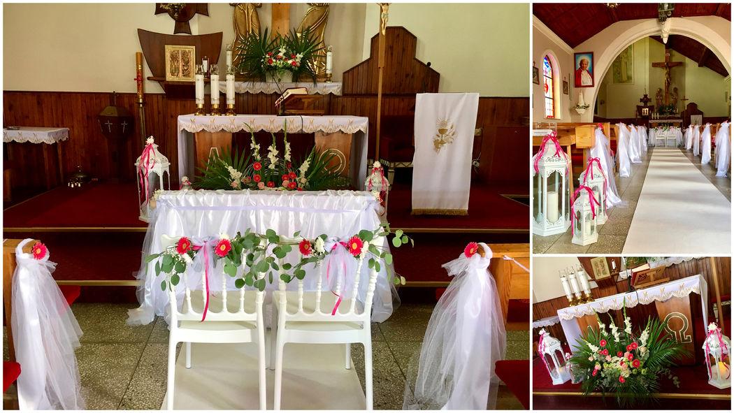 Białe Kwiaty Ceremonie Ślubne Dekoracje Oprawa Florystyczna
