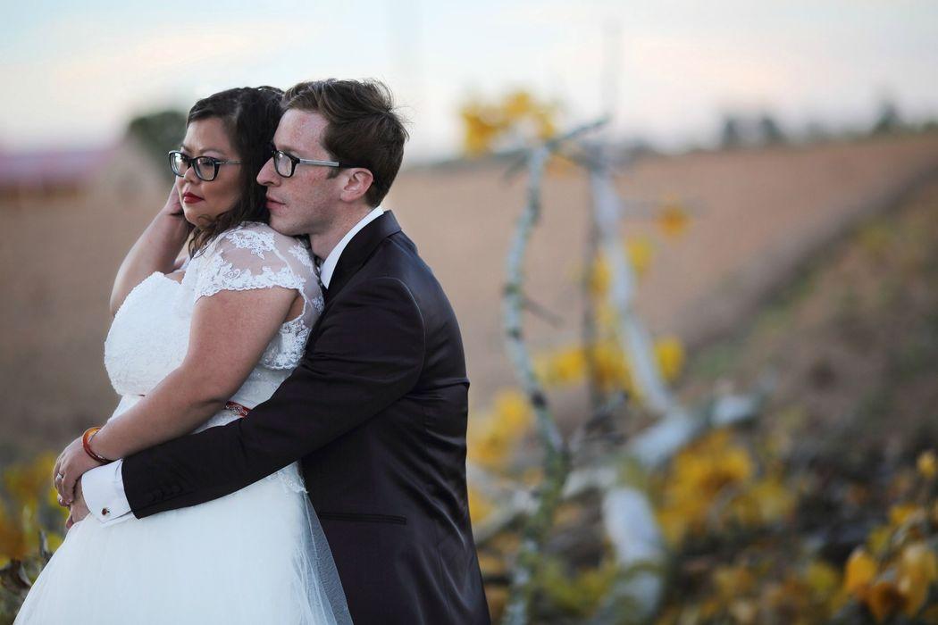 photo de couple prise pendant le mariage