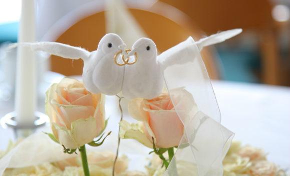 Beispiel: Hochzeitsdekoration, Foto: Seehotel Luisenhof.