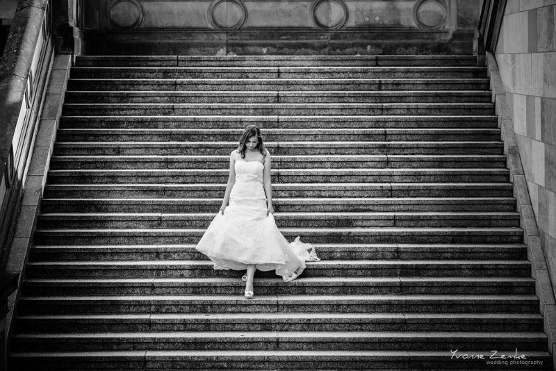 Beispiel: Künstlerische Portraits der Braut, Foto: Yvonne Zemke wedding photography.