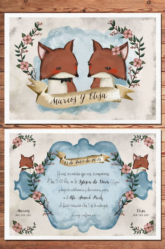 Invitación Mod. Fox Lovers