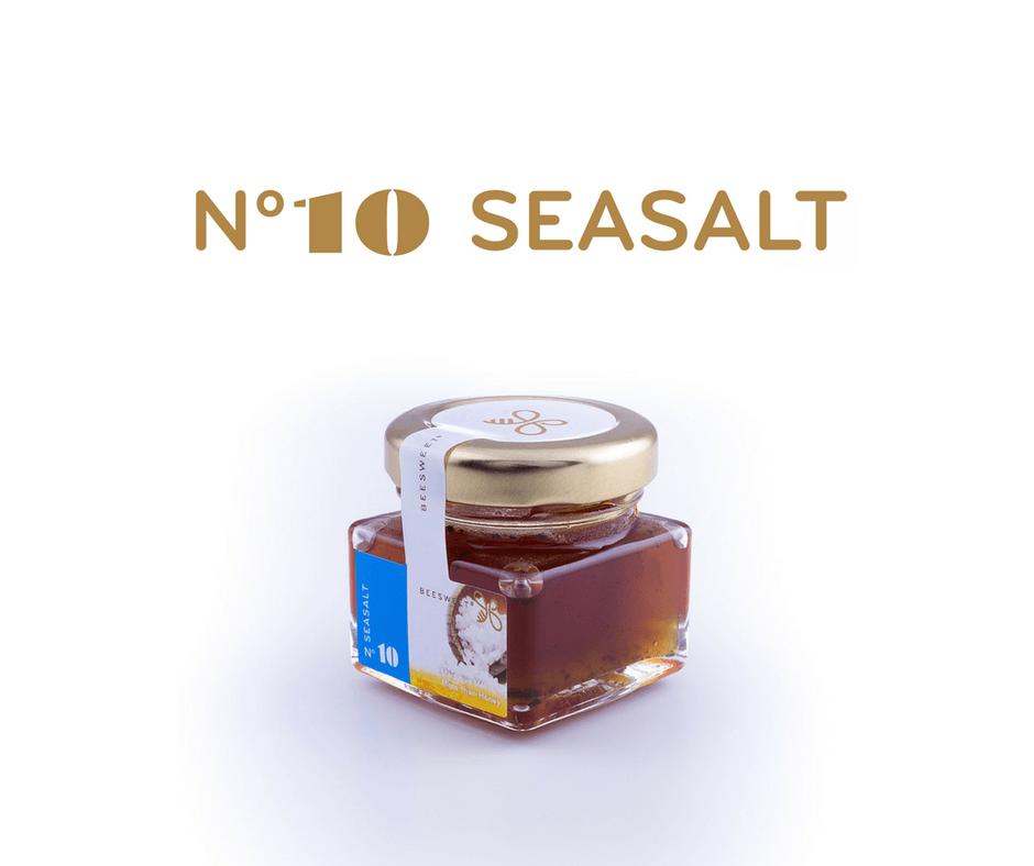 Requintado Frasco de 40gr de Mel aromatizado Beesweet - N. 10 Seasalt - Sabor salgado