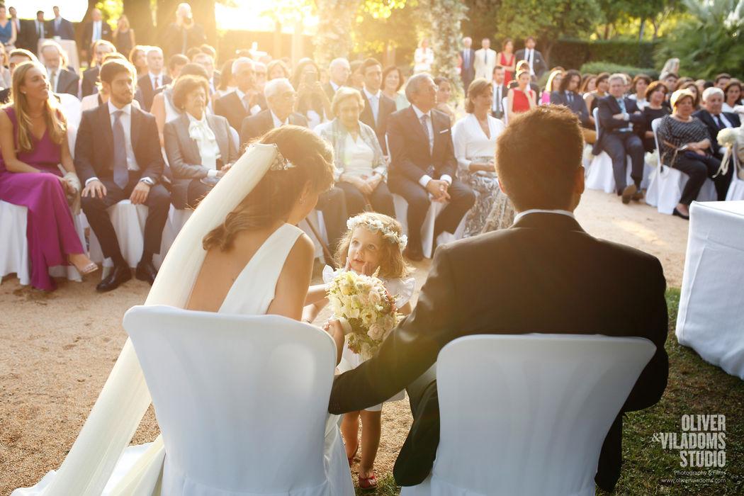 niña de los anillos, en ceremonia civil