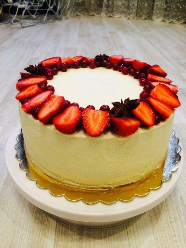 Крем-чизовый торт- классика , котора всегда в моде