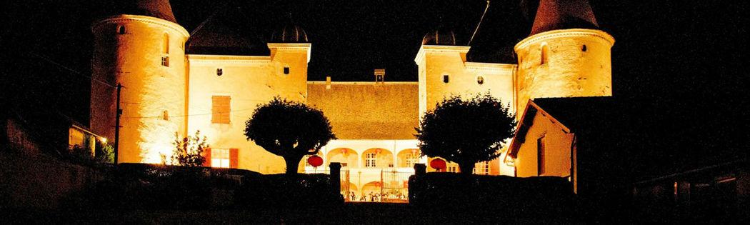 Le château de Varennes, nuit