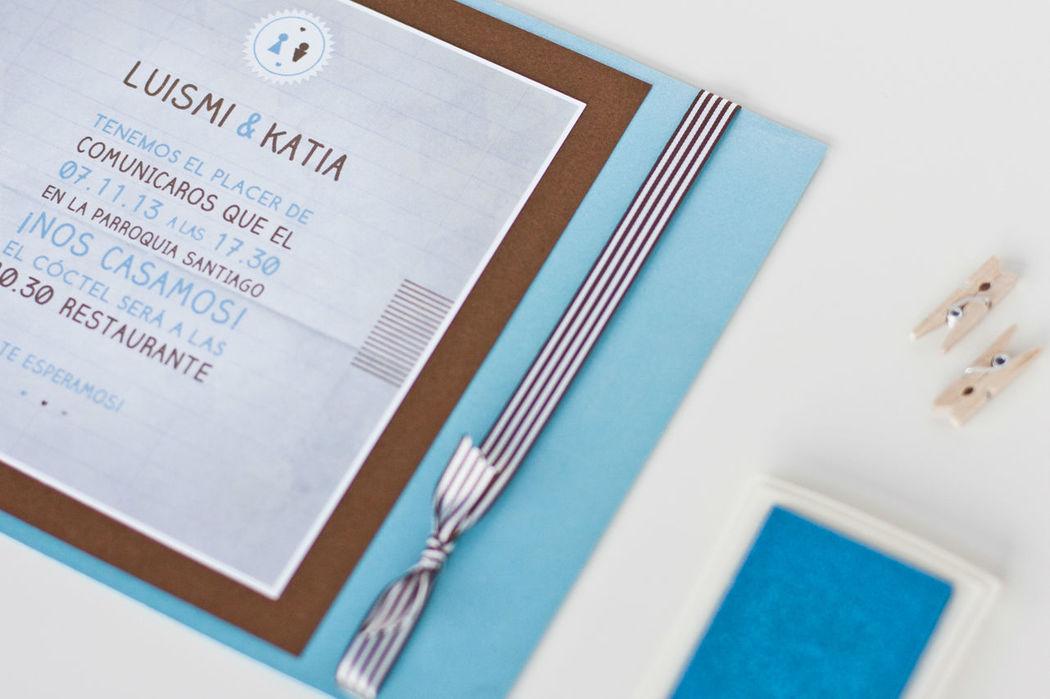 Invitacion |Think in blue chocolate